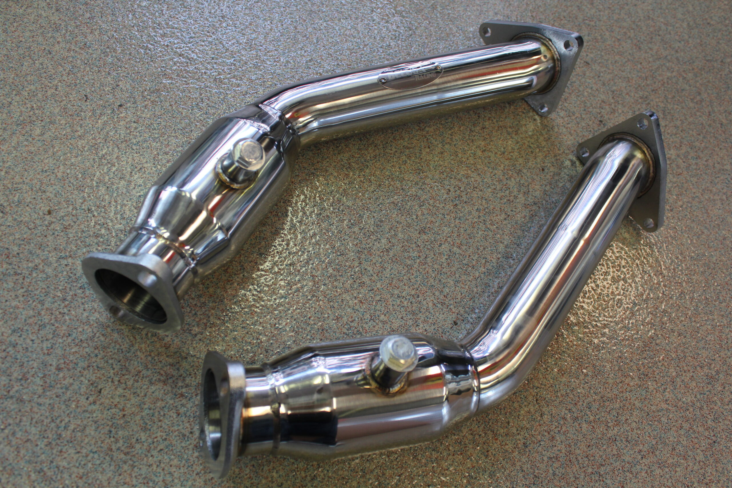 Infiniti G37 High Performance Resonated Test Pipes De Cat Nissan 370z